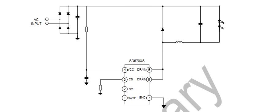 供应 电子元器件 集成电路 驱动ic sd6701 sd6702 sd6704无频闪内置mo