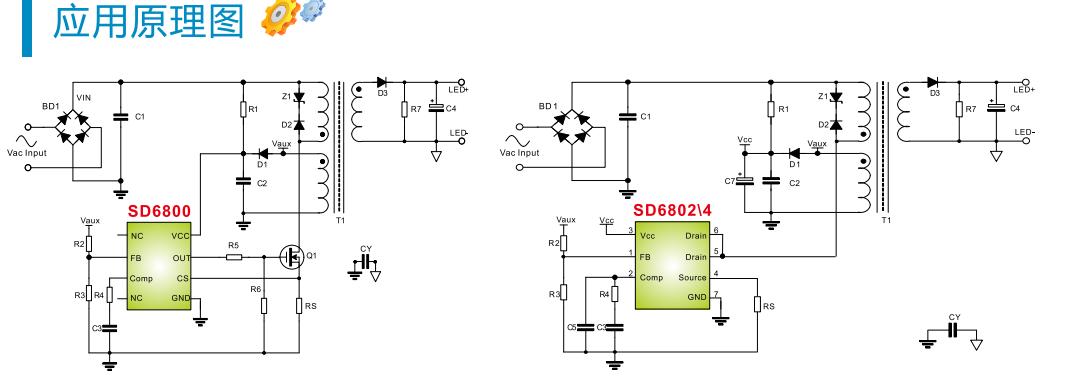 电子元器件 集成电路(ic) 驱动ic 供应sd6804 sd6804s apfc psr 隔离